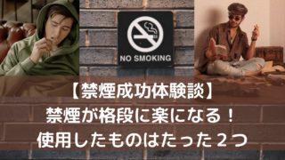 禁煙を格段に楽にさせた、2つの使用したグッズを紹介します